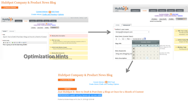 Postdating a Blog Using HubSpot