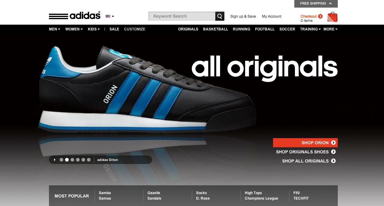 adidas online website