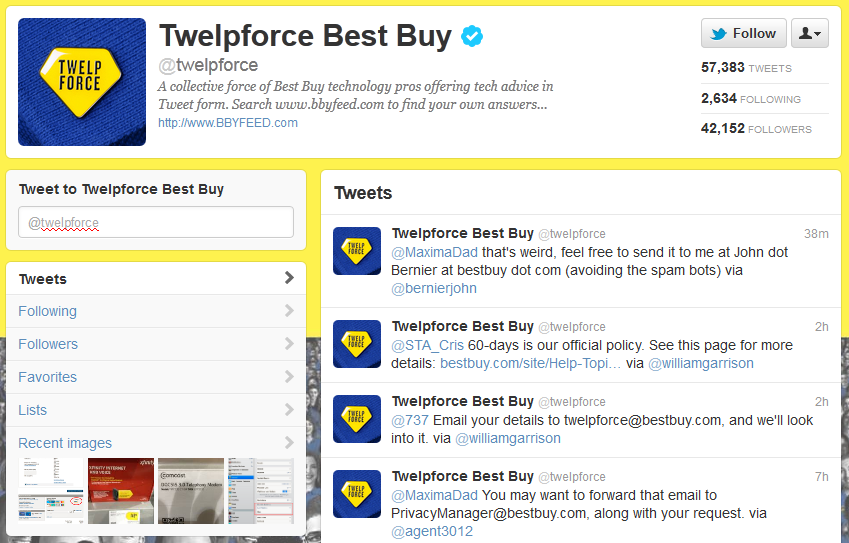 best buy twitter customer service