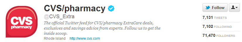 cvs twitter account
