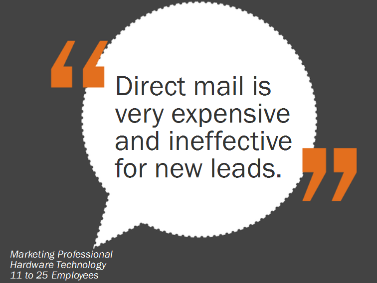 direct mail expensive