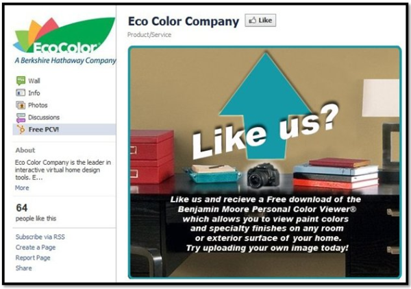 eco color facebook welcome tab
