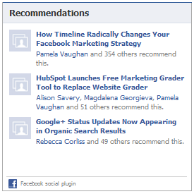 fb recommendations