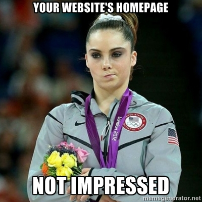 homepage not impressed