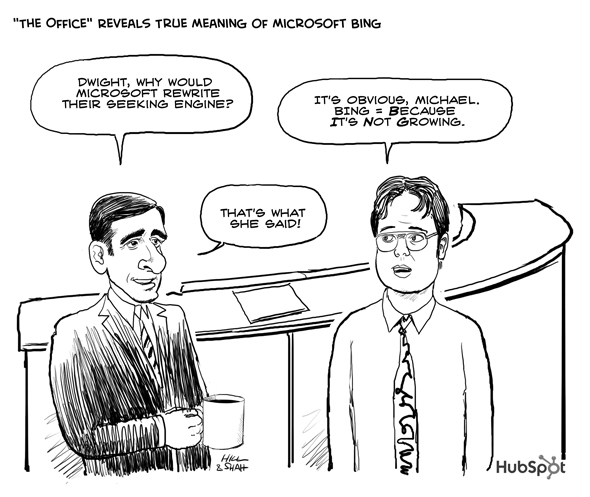 HubSpot Microsoft Bing Cartoon