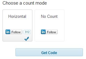 linkedin count mode