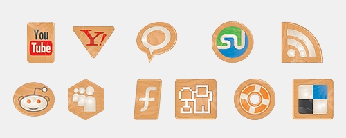 made of wood icon set