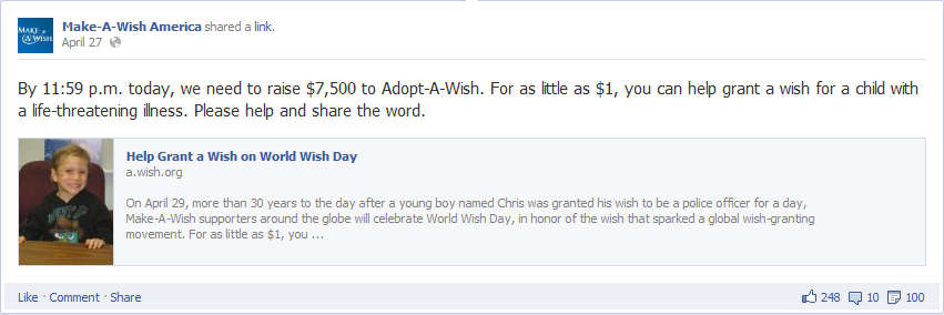 make a wish foundation fb