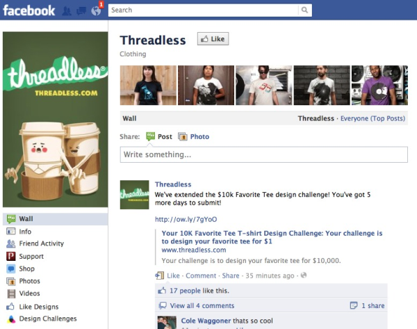 Threadless Facebook Page resized 600