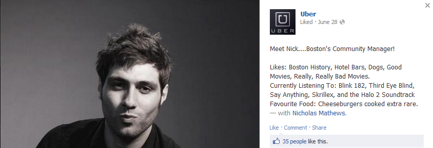 uber boston community manager