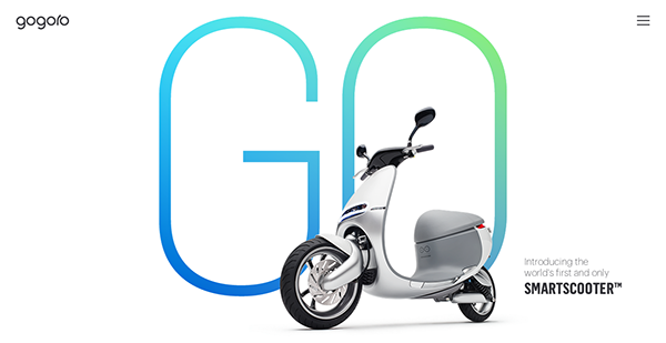 Gogoro Website Designs
