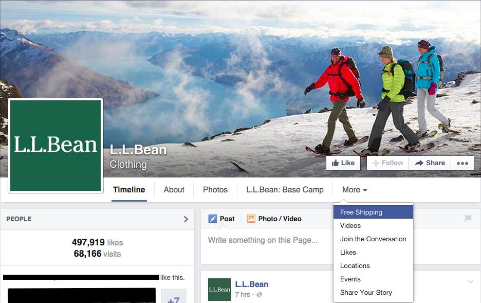 ll-bean-facebook-page