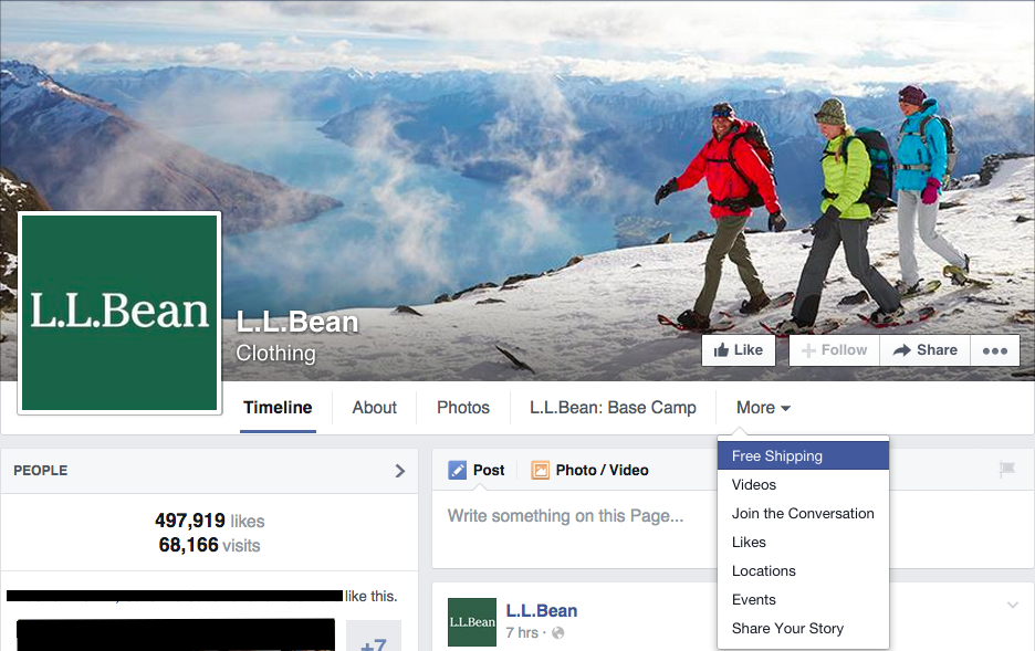 ll-bean-facebook-page