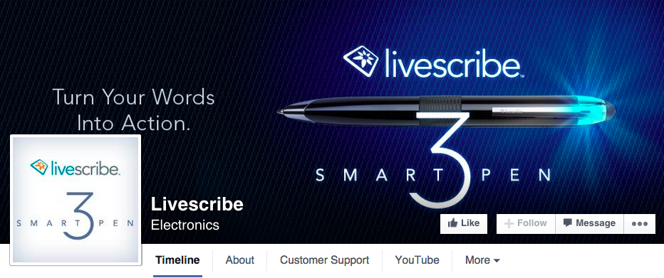 livescribe-facebook-page