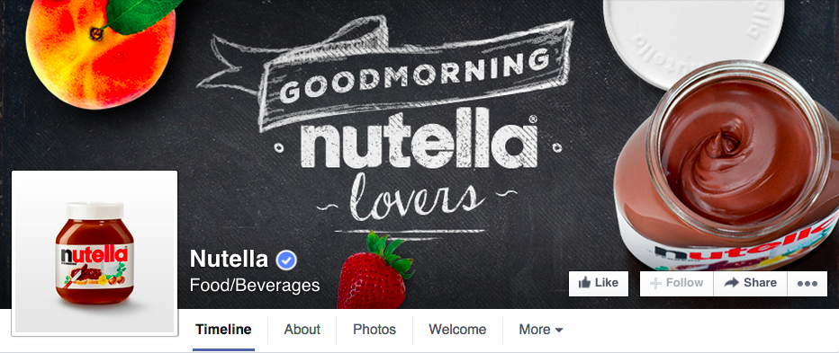 nutella-facebook-page