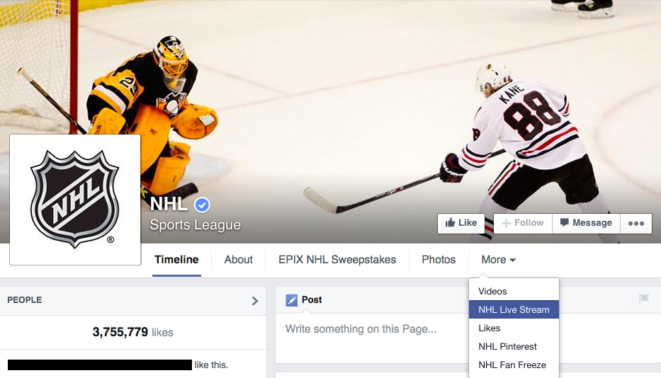 nhl-facebook-page