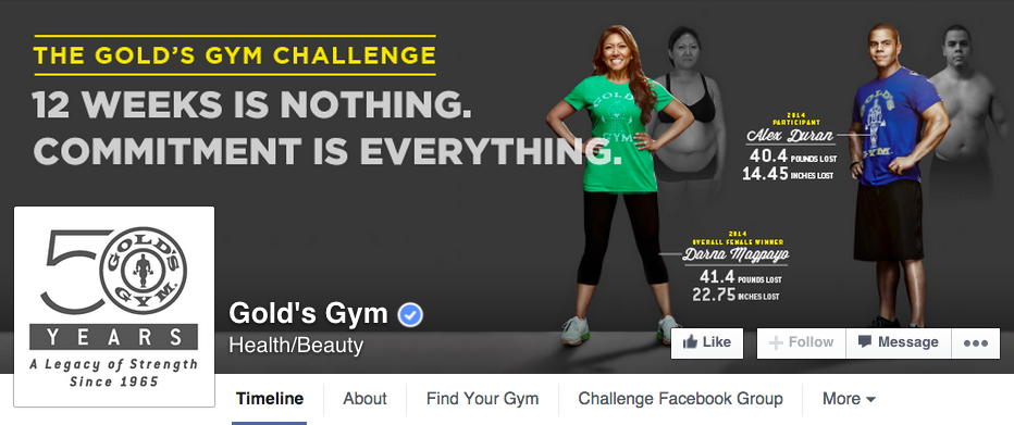 golds-gym-facebook-page