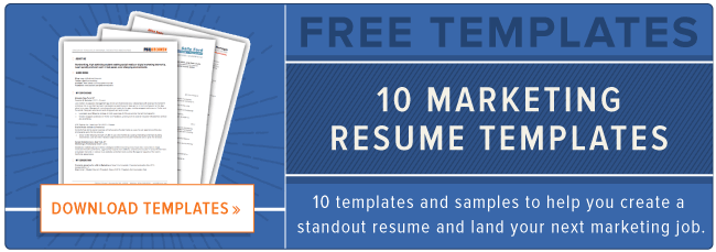 How to Write a Marketing Resume Hiring Managers Will Notice Free – Marketing Job Resume Examples