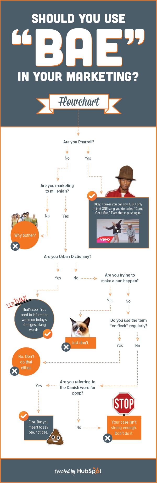 "HubSpot flowchart - Should you use ""bae"" in your marketing?"