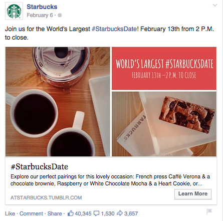 starbucks facebook ad