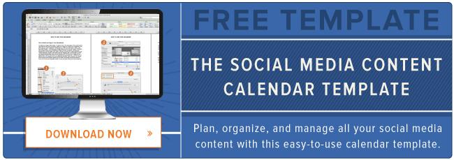 Social Media Content Schedule Template Free Social Media Content