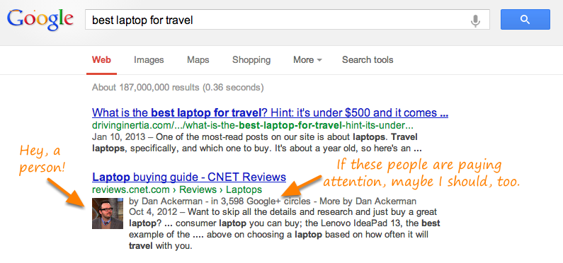 Google Author Rich Snippets