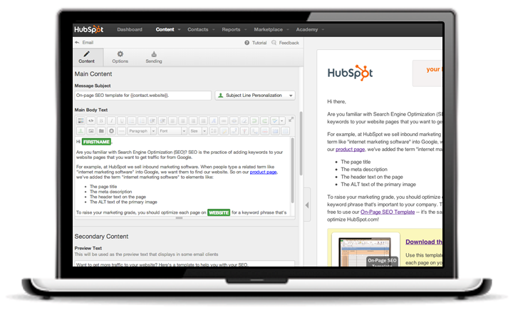 Free Trial - Get a 30-Day Trial of HubSpot to Create Personalized Emails