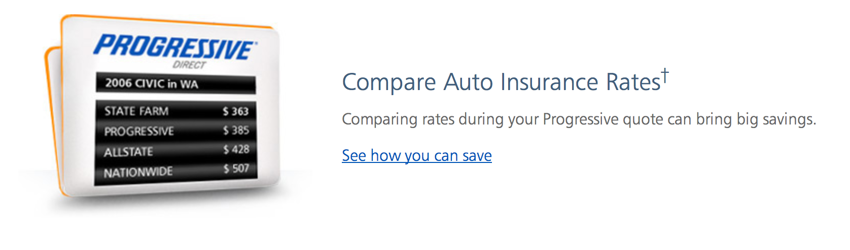 build customer trust through content competitor example with progressive insurance