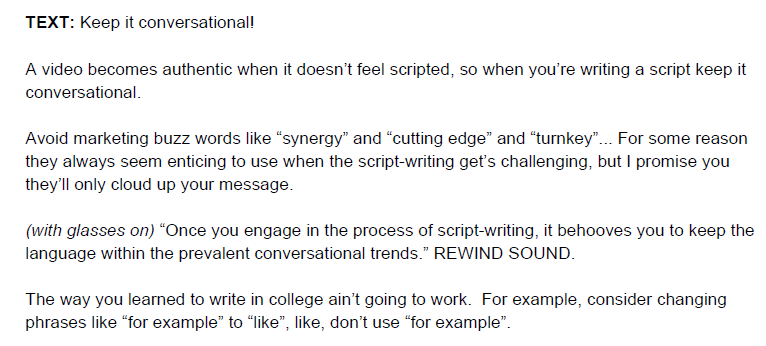 How To Write A Video Script Template Video