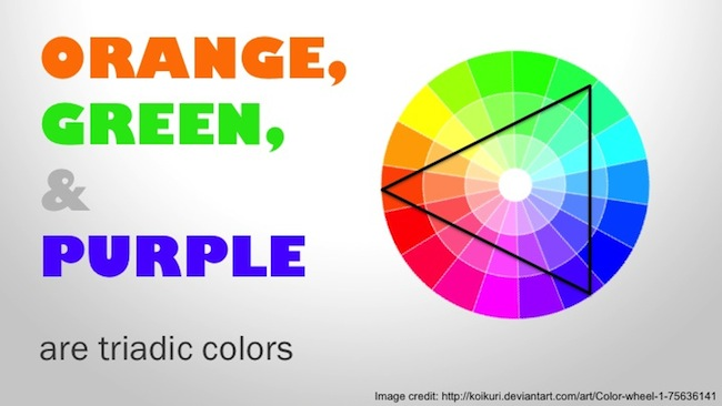 orange-green-purple