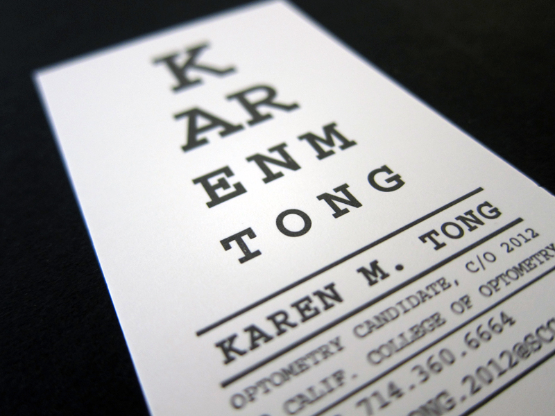 10 inspired business card designs too useful to throw away eyechart similarly functional this optometrist turned her business card colourmoves