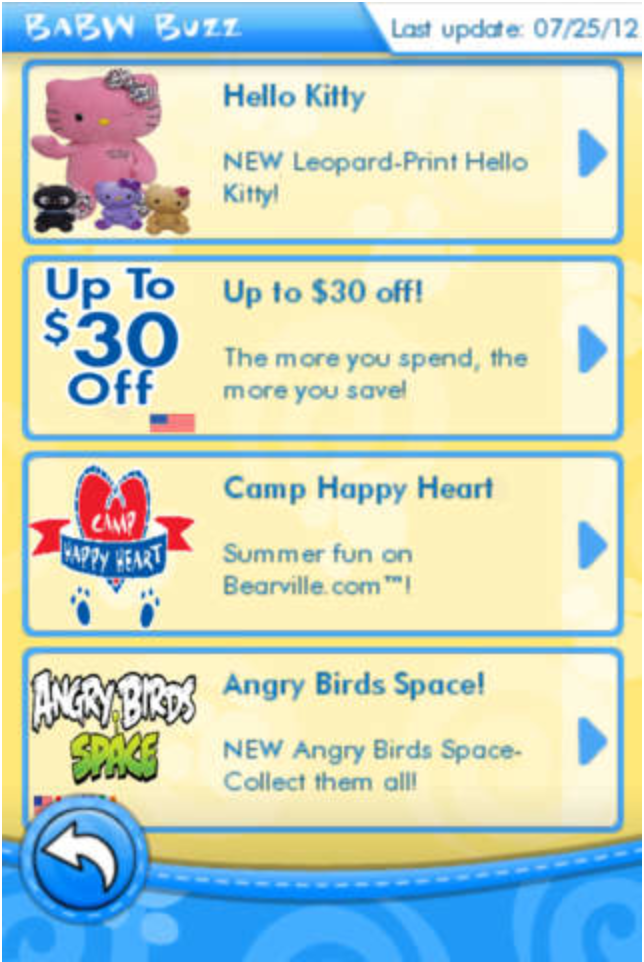 Build-A-Bear app example
