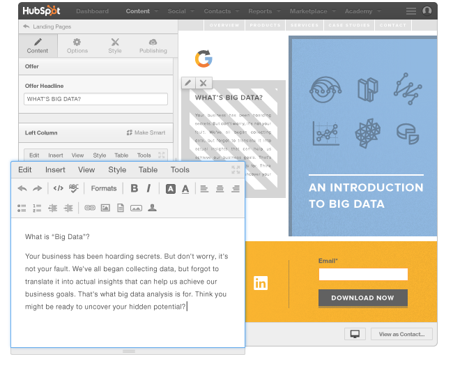 how to make landing page for hubspot