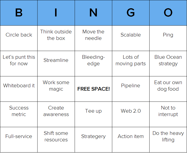 ... to Play Some Business Babble Bingo? [Free Customizable Bingo Cards