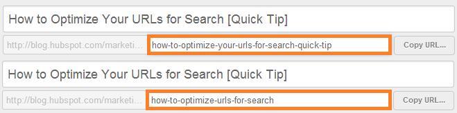 optimize url