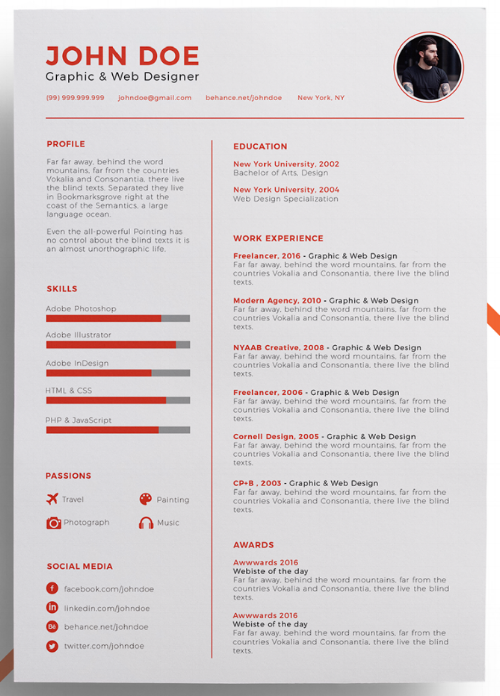 The 17 best resume templates for every type of professional resume template with photo space on the top right yelopaper Image collections