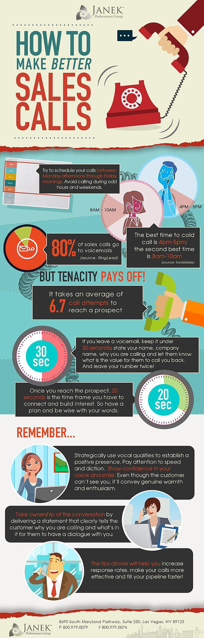 8 Ways to Make Your Sales Calls Better Right Now Infographic