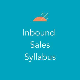 Inbound Sales Syllabus