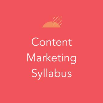 Content Marketing Syllabus