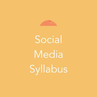 Social Media Syllabus