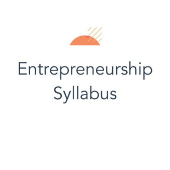 Entrepreneurship Syllabus