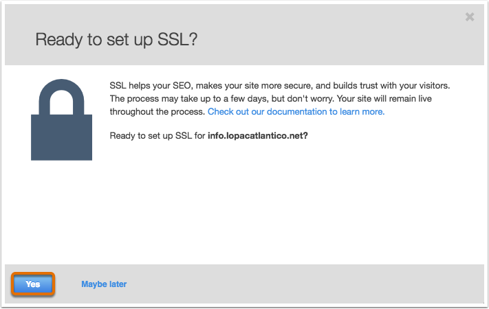 how to enable ssl:
