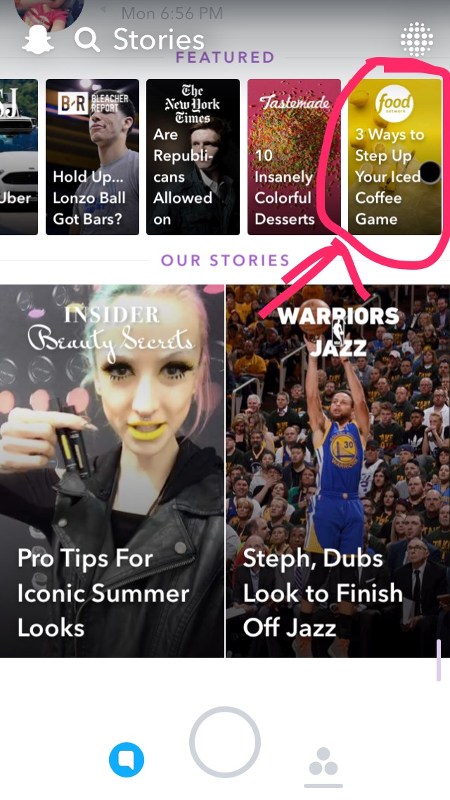 Featured Snapchat Stories