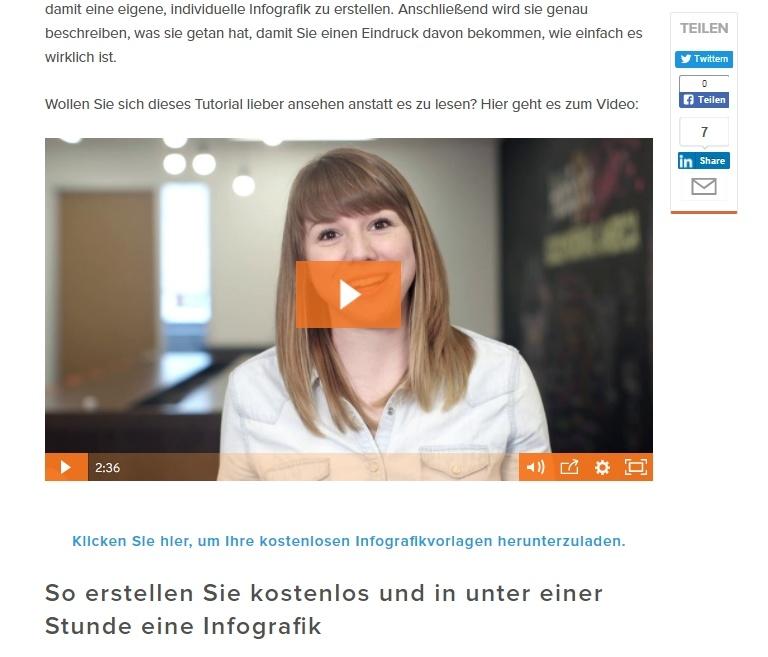 Ein Blog-Beitrag mit eingebettetem Video