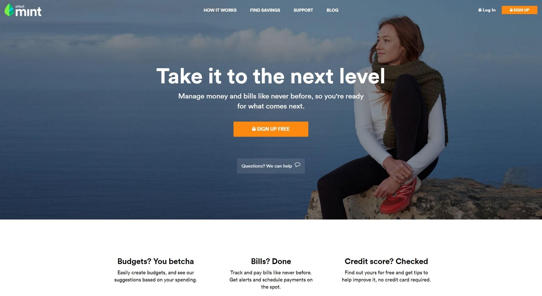 HubSpot – Anatomie einer Website, die Leads generiert – Homepage Mint