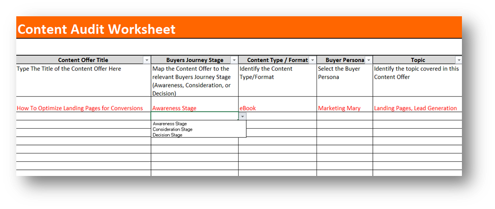 how to create an inventory spreadsheet