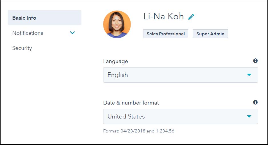 Change language and region settings