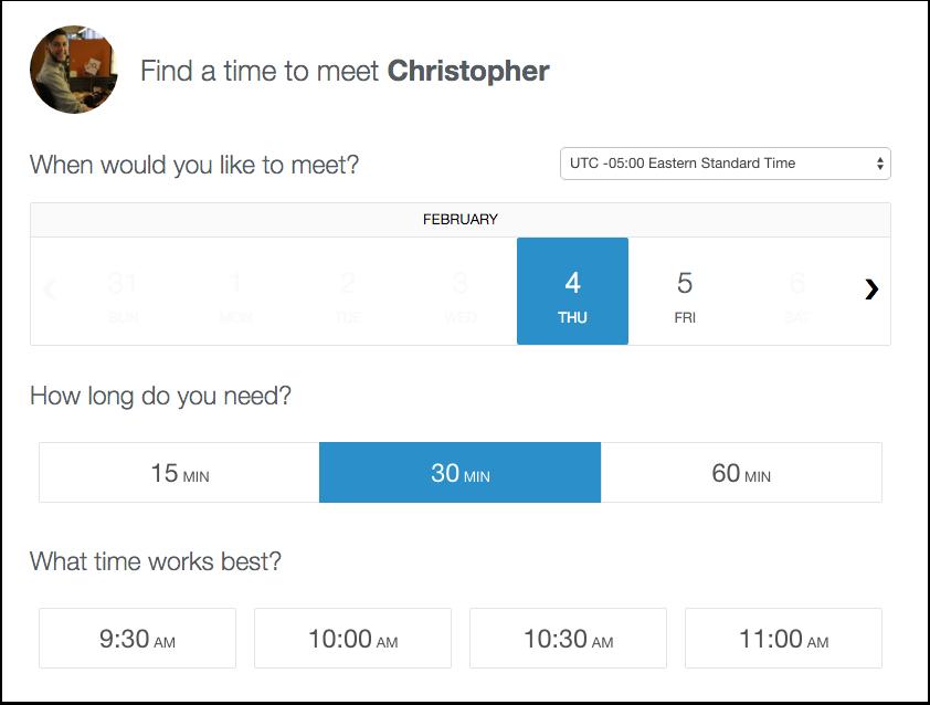 HubSpot Sales – Meetings – Meeting buchen