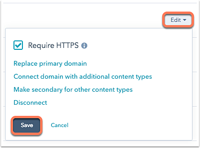 Connect a domain to HubSpot