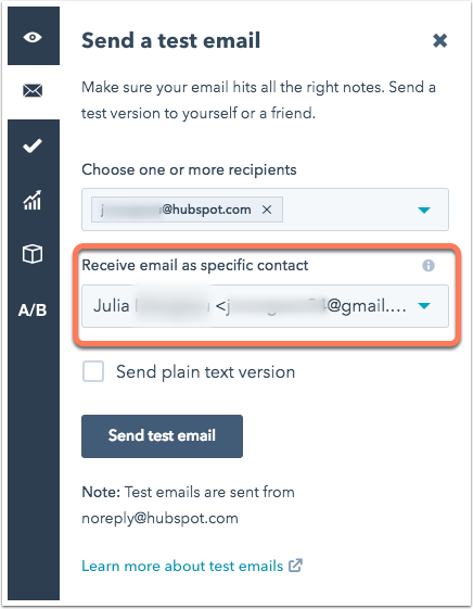 receive-email-as-a-specific-contact
